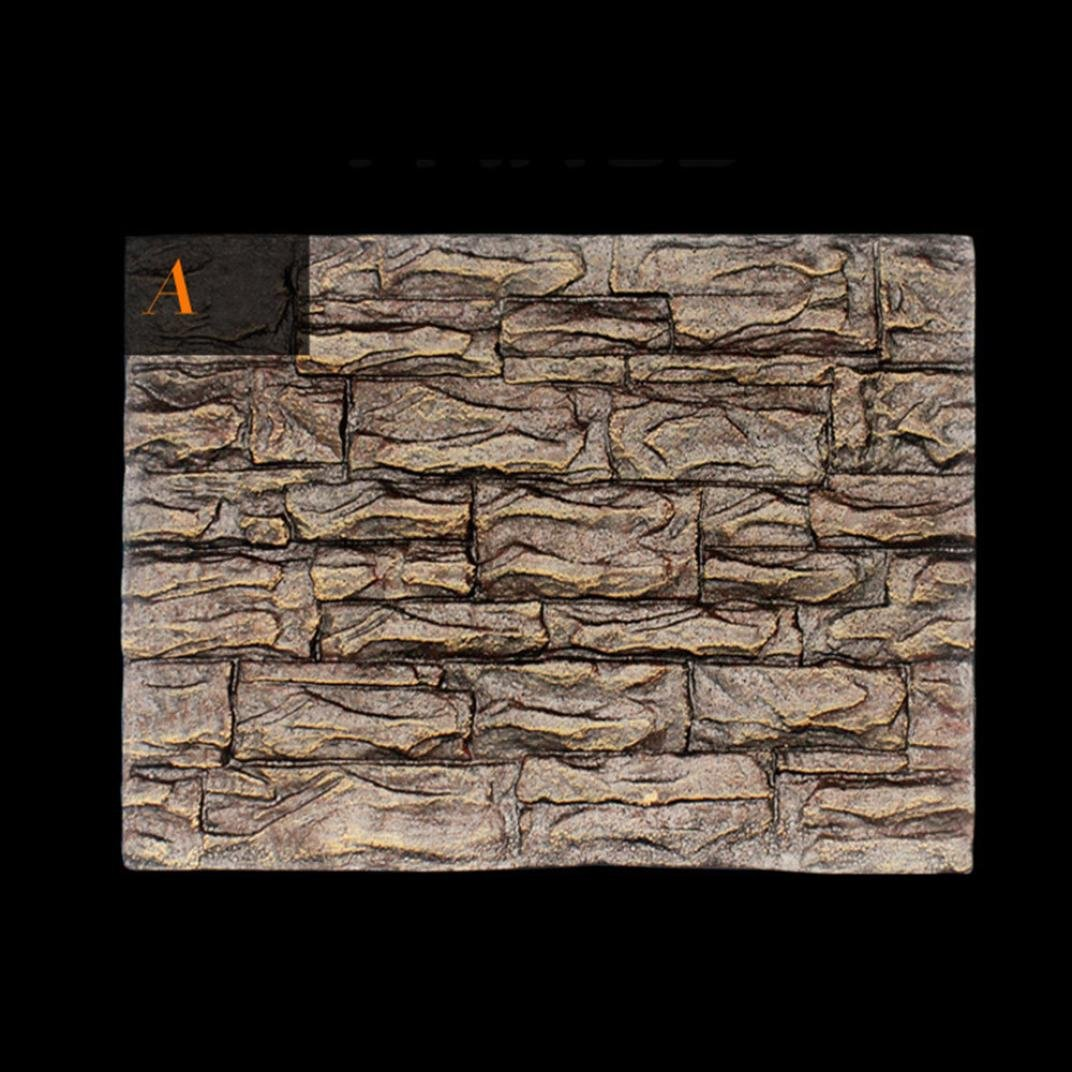 C HUHU833 3D Foam Rock Reptile Stone Aquarium Background Fish Tank Board Decor