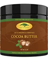 (16 oz) Raw Cocoa Butter with RECIPE EBOOK - Perfect for All Your DIY Home Recipes Like Soap Making, Lotion, Shampoo, Lip Balm & Hand Cream - Unrefined Organic Cacao Butter