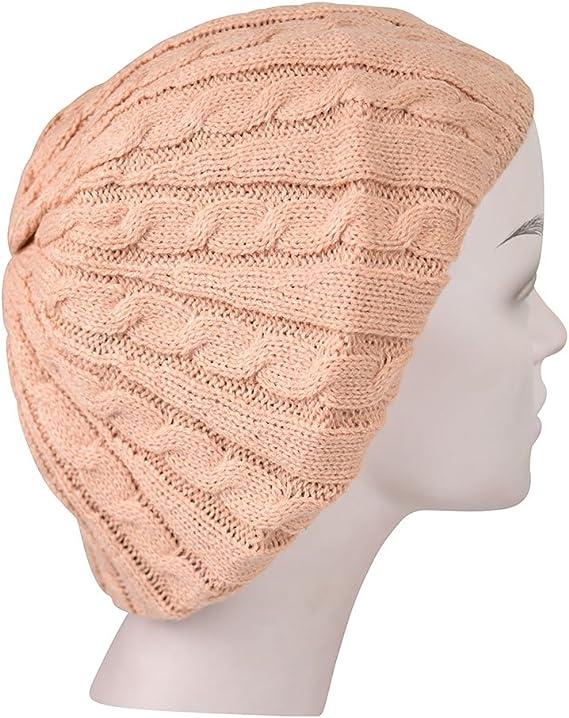 Revaz Womens Metallic Knit Lined Beret//Snood w//Pompom Snood SSB23