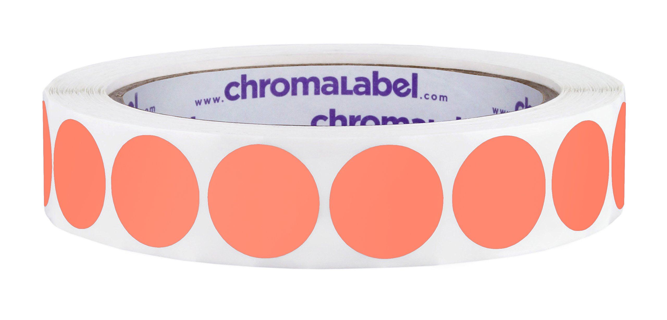 ChromaLabel 3/4 inch Color-Code Dot Labels | 1,000/Roll (Salmon)