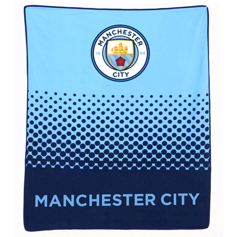 Premier League MCFC Giant Official Manchester City 125cm x 150cm Fleece Blanket
