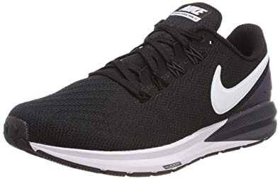 e4b358eb30516 Nike Women s s Air Zoom Structure 22 Running Shoes Black White Gridiron 002  4 UK