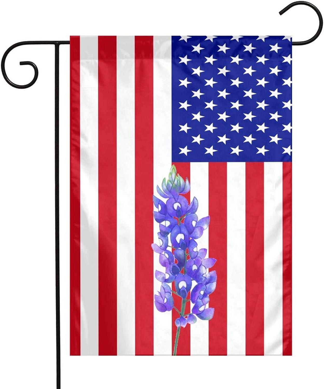 Texas Bluebonnet Garden Yard Flag Vertical Full Screen Printing Single Sided Great American Flag Yard Outdoor Decoration 12 X 18 Inch