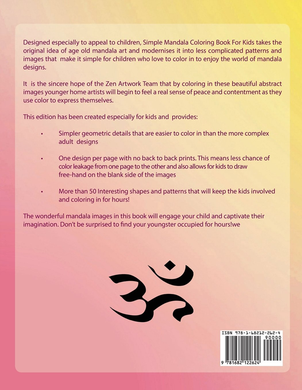 Buy Simple Mandala Coloring Book for Kids Book Online at Low Prices