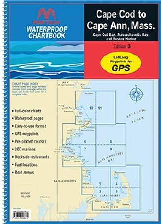 Amazon com maptech waterproof chart kit cape cod to cape ann ma