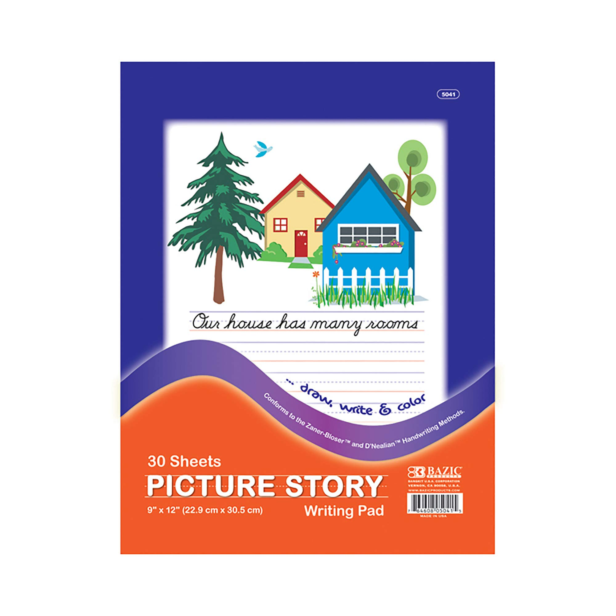 BAZIC 30 Ct. 9'' X 12'' Picture Story Pad (Case of 48) by B BAZIC PRODUCTS