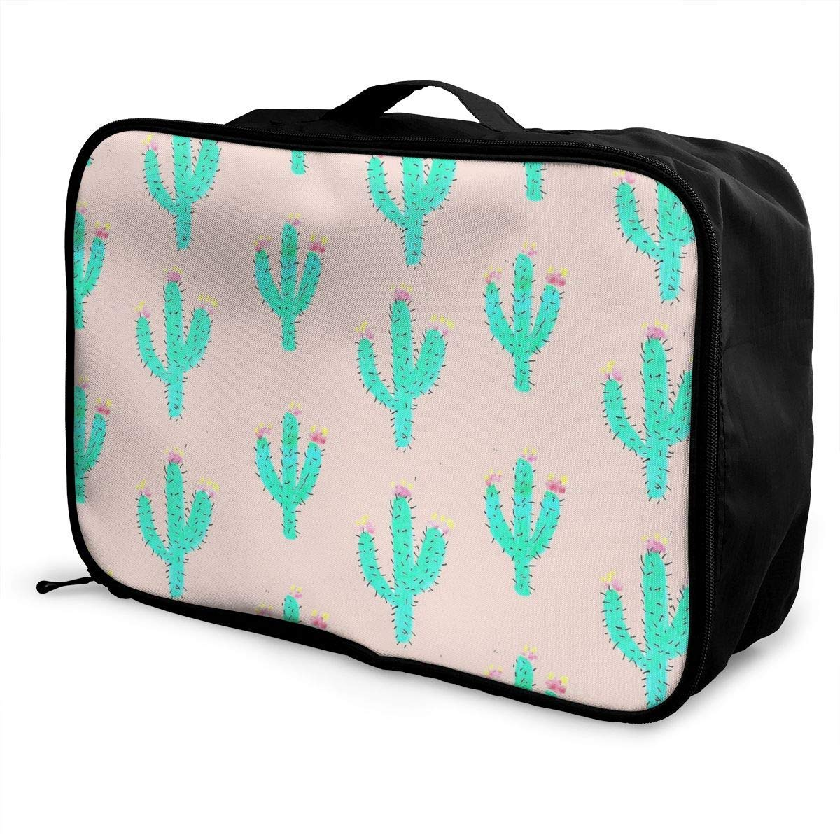 JTRVW Luggage Bags for Travel Bright Cactus Pink Travel Lightweight Waterproof Foldable Storage Carry Luggage Duffle Tote Bag