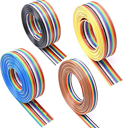 15ft 30 Way Flat Color Rainbow Multicolor Ribbon Cable Wire 28 AWG