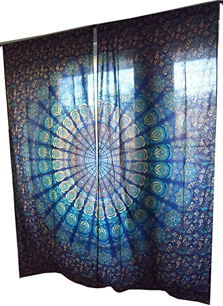 bohemian throw drapes pinterest tapestry valance curtains window mandala best images curtain on