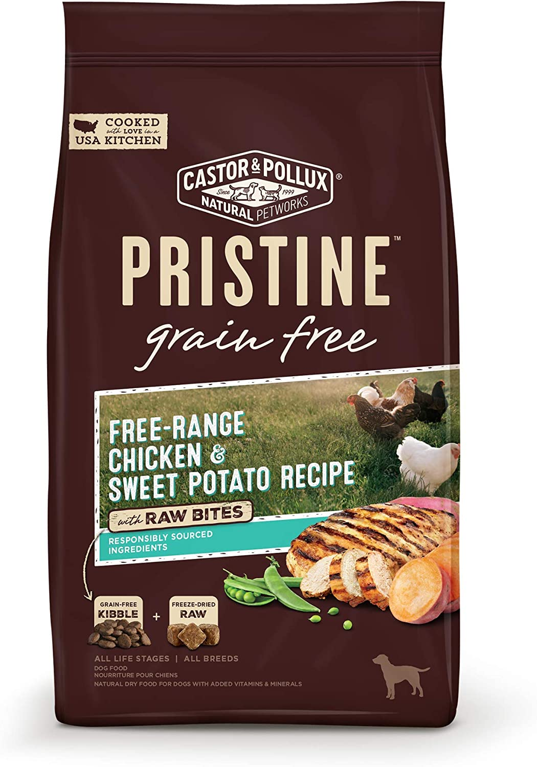Castor & Pollux Pristine with Raw Bites Dry Dog Food
