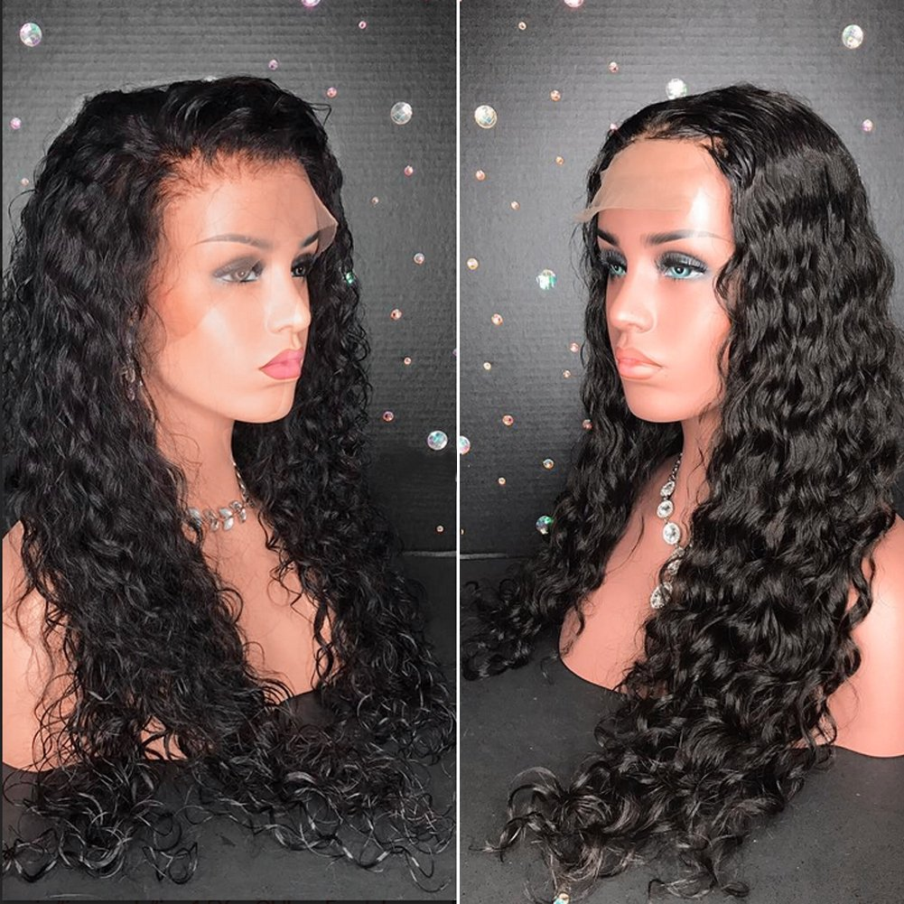 Meizi Hair 8A Lace Front Wigs Brazilian Human Hair for Black Women Remy Hair Glueless Full Lace Wigs 130%-180% Density Lace Front Wigs with Baby Hair (20inch with 150% density, Lace Front Wig) by Meizi Hair (Image #2)