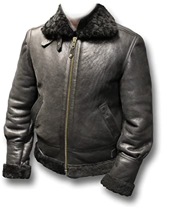 9e6cfcc0730 Schott Men s Sheepskin B-3 Leather Flying Jacket LC1259  Amazon.co ...