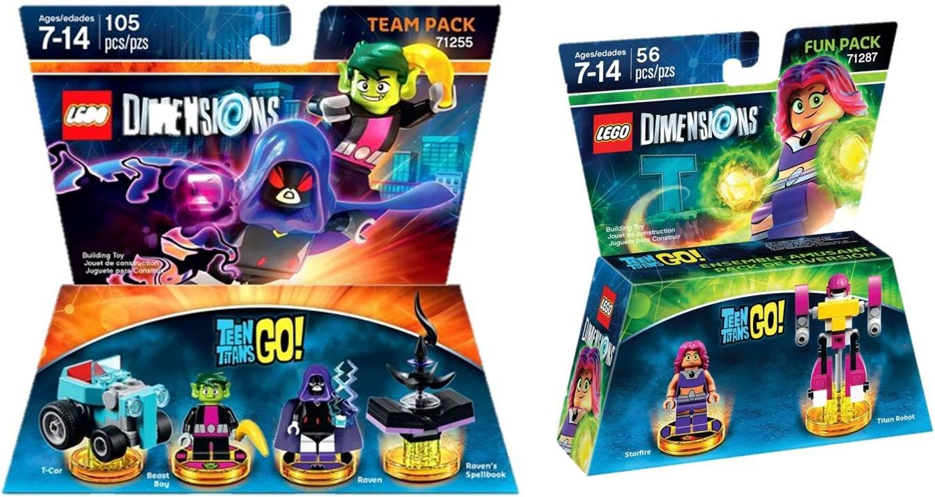 Set of 5 Minifigs Raven Starfire Beast Boy Cyborg Free USA Ship Teen Titans Go