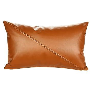Amazon.com: Snugtown - Funda de almohada de piel sintética ...
