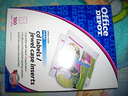 amazon com office depot r cd labels jewel case inserts 8 1 2in