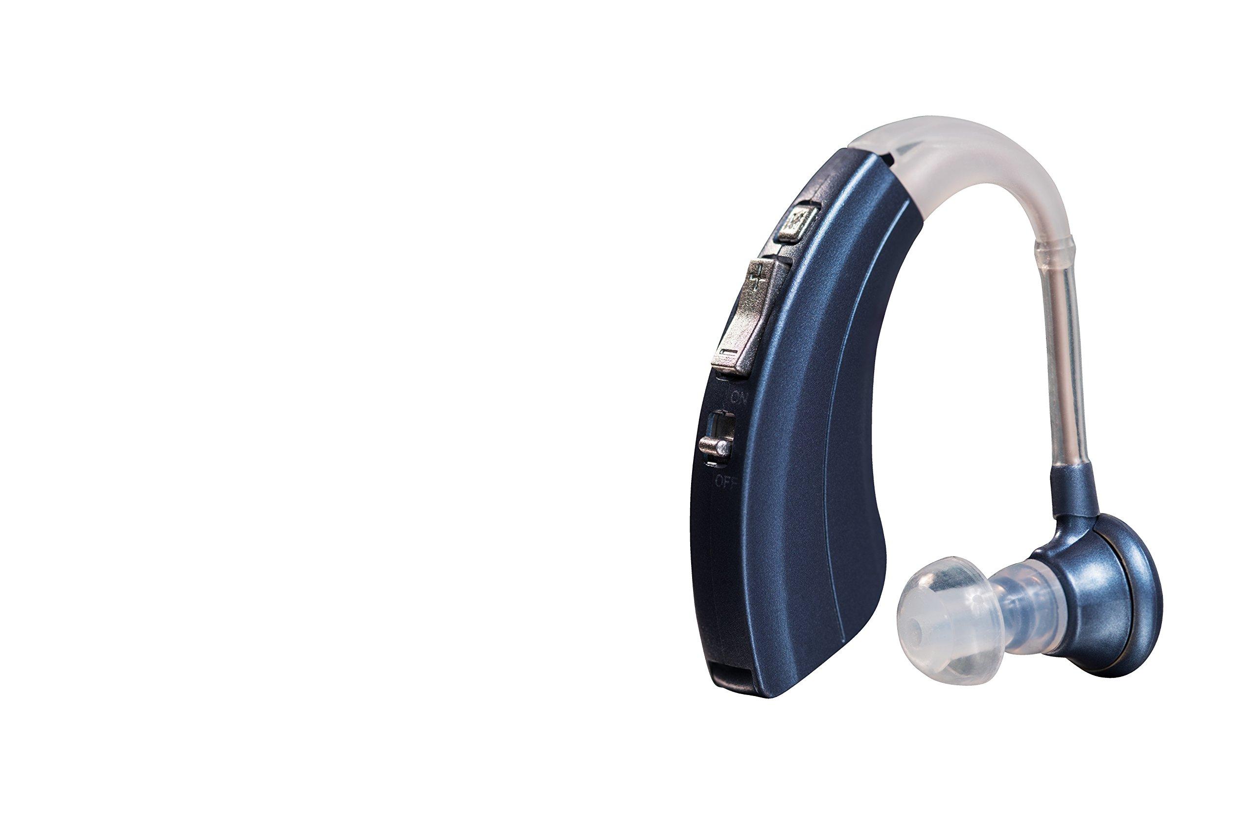 Digital Hearing Amplifier by Britzgo - 220B Blue - 500 Hour Battery Life