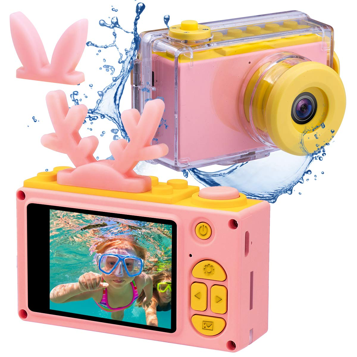 Kids Digital Cameras for Boys HD 1080P Video Camera for Kids Children Selfie Camera Kids Toy Cameras Mini Child Camcorder for Age 3-10 Boys/Girls Pink by Joytrip (Image #1)