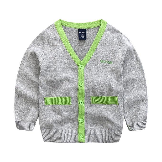 8f831cbb2032 Amazon.com  Maylife Baby Little Boys Kids Casual Knitted Long Sleeve ...