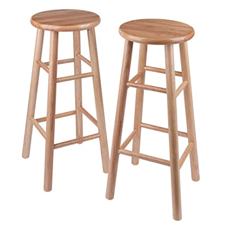 Surprising Amazon Com Winsome Wood S 2 Wood 30 Inch Bar Stools Onthecornerstone Fun Painted Chair Ideas Images Onthecornerstoneorg