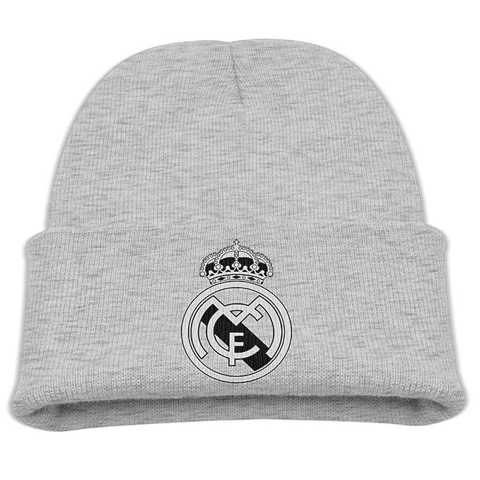 6ec921e76e1 Kid Real Madrid C.F. Logo Football Club Toboggan Winter Hats  Amazon ...