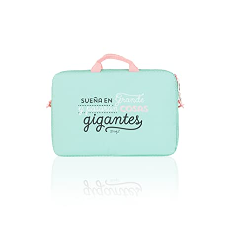 "Safta Mr. Wonderful Funda para Portátil de 15.6"", 14 litros, Color Verde"