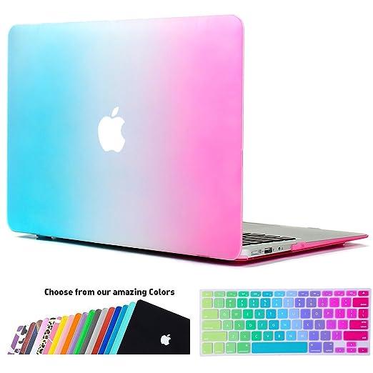 178 opinioni per Custodia MacBook Air 13 Cover- iNeseon 2 in 1 Plastica Cover Rigida Duro Caso,