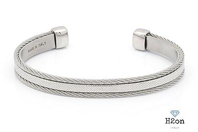 dd08795f0fcad6 Bracelet Esclave en acier pour homme by H2On fabriqué en italie ...