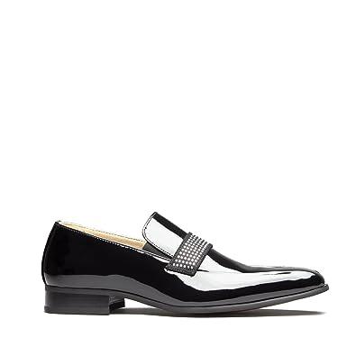 719e028078b Mister Carlo Skipton Mens Patent Elasticated Loafers  Amazon.co.uk ...