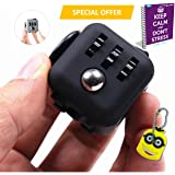 Fidget Cube Anxiety Attention Toy With BONUS eBook Included + Minion Key Chain - Relieves Stress And Anxiety And Relax for Children and Adults