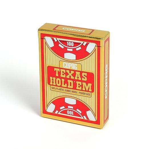 2 opinioni per COPAG- Carte Poker Texas Hold'em I Carte da Gioco 100% Plastica (PVC) I Mazzo di