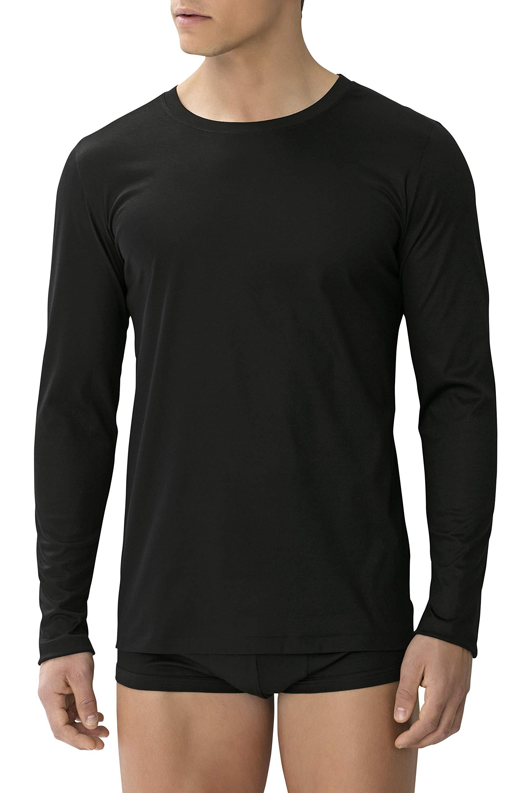 Zimmerli of Switzerland SEA Island Mens Long Sleeve Crew TEE Shirt M Black