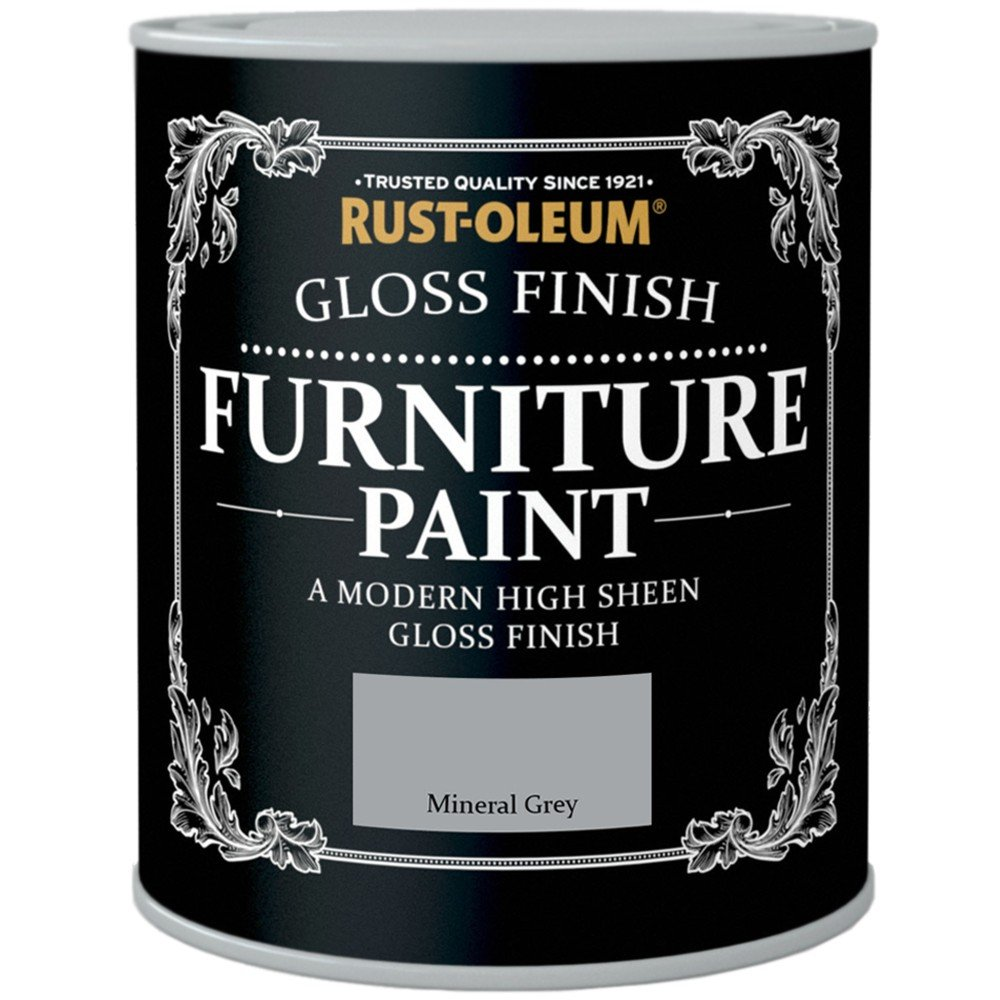 Rust-Oleum Gloss Finish Furniture Paint Mineral Grey 125ml