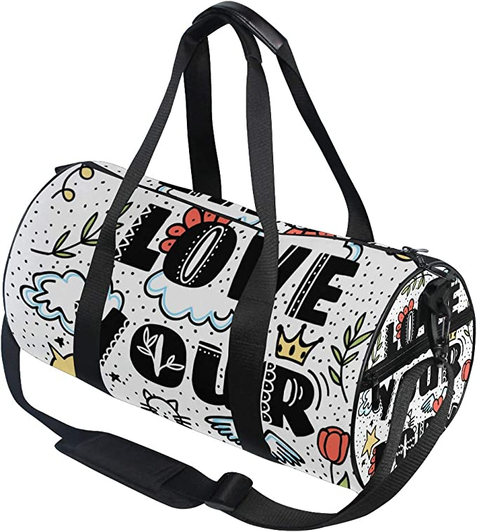 Travel Duffel Bag Waterproof Lightweight Large Capacity Luggage Bag Skull Vector Illustration Portable Weekender Bag For Travel Camping Sport