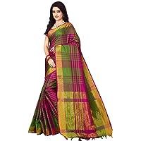 Nirmla Fashion Women's Cotton Silk Saree with Blouse Piece(S1115_Multicolour_Free Size)