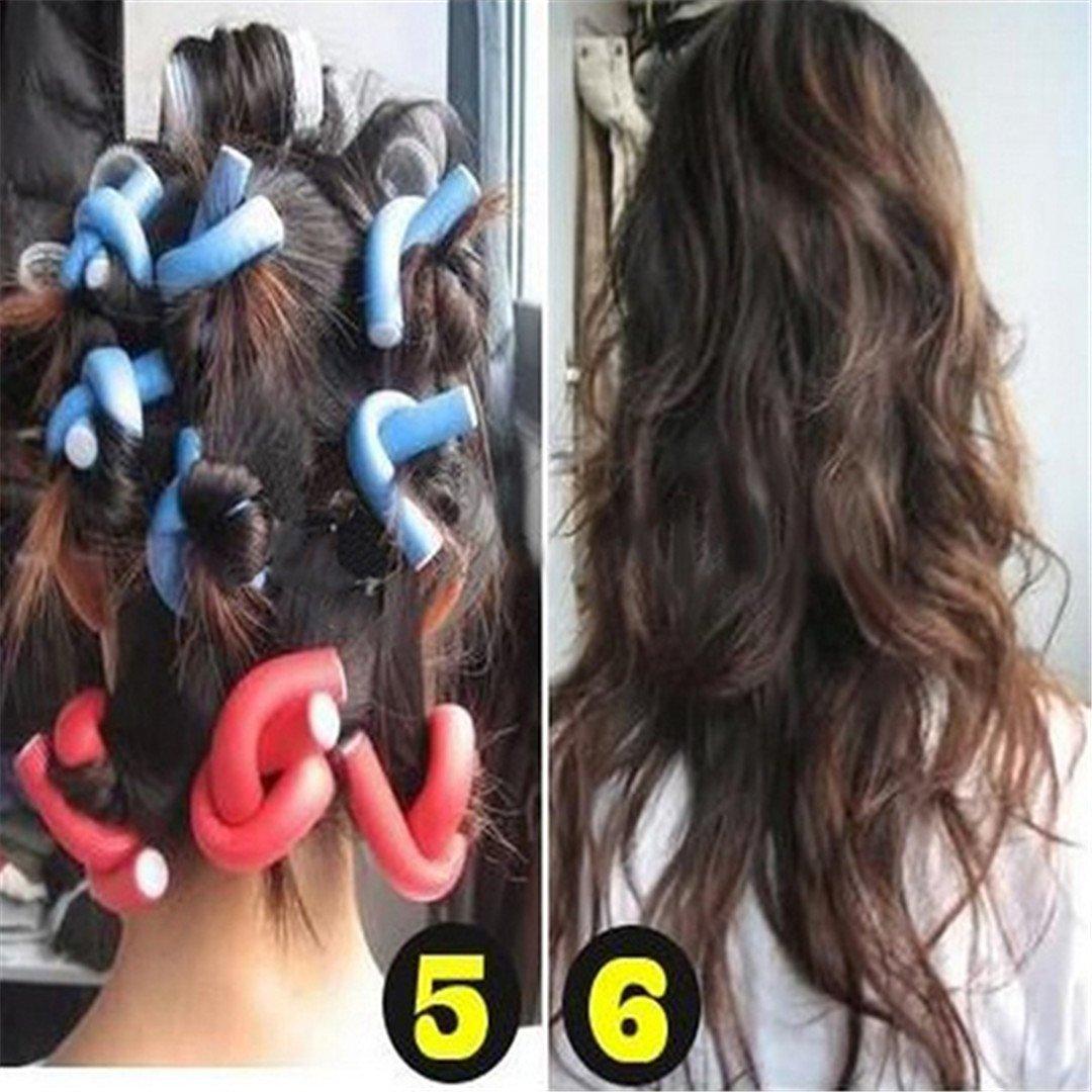10 Pcs Soft Foam Curler Sticks DIY Hair Design Curl Roller Tool by HAHUHERT (Image #6)
