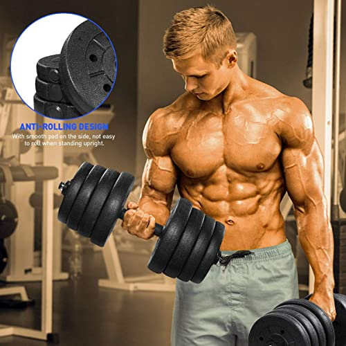 66 LB Dumbbells Adjustable Weights Dumbbell Set for Bodybuilding Training (3-5 Days Delivery)
