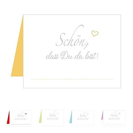 Edition Seidel Set 50 Premium Tischkarten Tischkärtchen Platzkarten Namenskarten Hochzeit Geburtstag Taufe Kommunion Konfirmation Firmung
