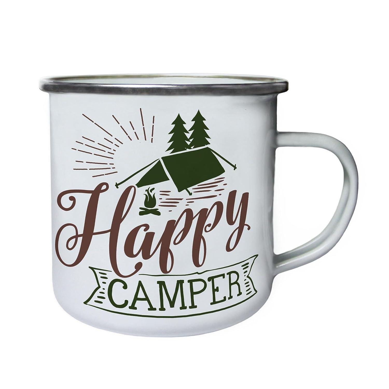 ★大人気商品★ Happy Camper B0737WHJGD in色レトロ Camper Happy、Tin、エナメル10ozマグj922e B0737WHJGD, B.BESS:7470d1be --- movellplanejado.com.br