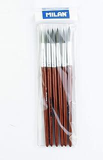 Pack 6 pinceles escolar serie 101 nº 9 Milan: Amazon.es: Hogar