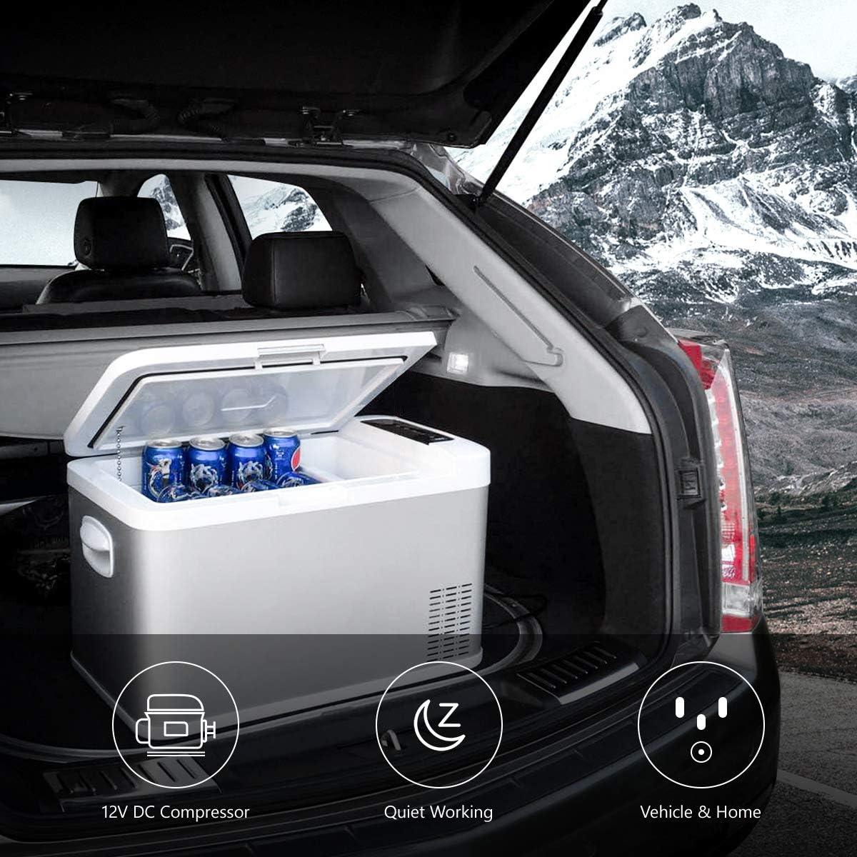 Ausranvik 37-Quart Portable Fridge Car Refrigerator Car Fridge Car Freezer 12V//24V DC 4/°F ~ 68/°F