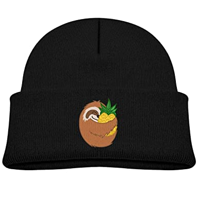 e083f059076 Infant Toddler Baby Kids Knitted Beanies Hat Pineapple Sloth Winter Hat  Knitted Skull Cap for Boys