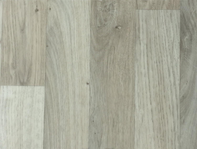 PVC-Bodenbelag Landhausoptik /& Holzoptik Hellgrau Fu/ßbodenheizung geeignet Vinylboden in 2m Breite /& 1m L/änge Stark strapazierf/ähiger Fu/ßboden-Belag Pflegeleichte /& rutschhemmende PVC Planken