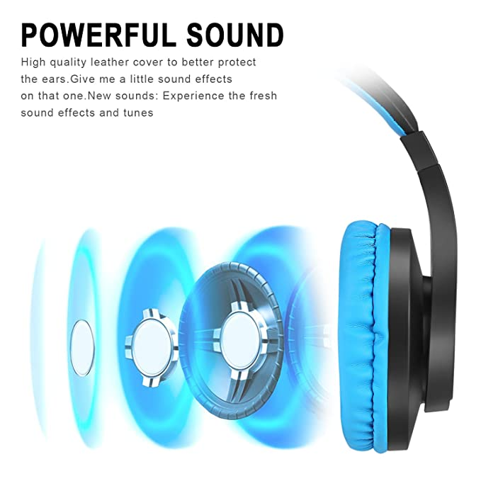 Ikevan BT Stereo Earphone Headband Gaming Headset Headphones with Volume Control Microphone for PUBG Phone PC Laptop Computer