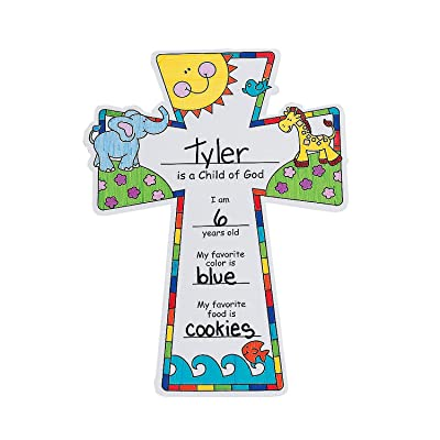 Color Your Own Child of God Crosses - Crafts for Kids and Fun Home Activities: Toys & Games
