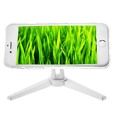 Phone Stand - Cell Phone Stand for iPhone X 8 Plus 7 6 5 Samsung Galaxy S8 S7 - Adjustable Magnetic Desk Phone Holder for Car and Wall, White, Bontend