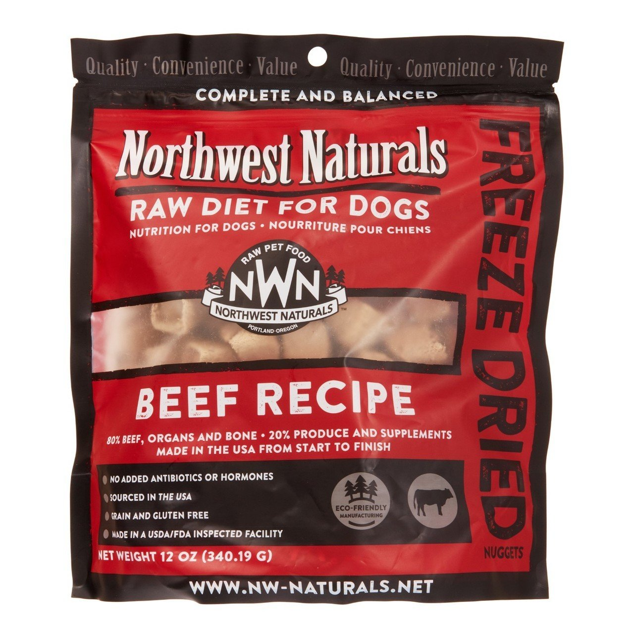 Northwest Naturals Raw Rewards Freeze Dried Nuggets - Dinner for Dogs (Beef) by Northwest Naturals