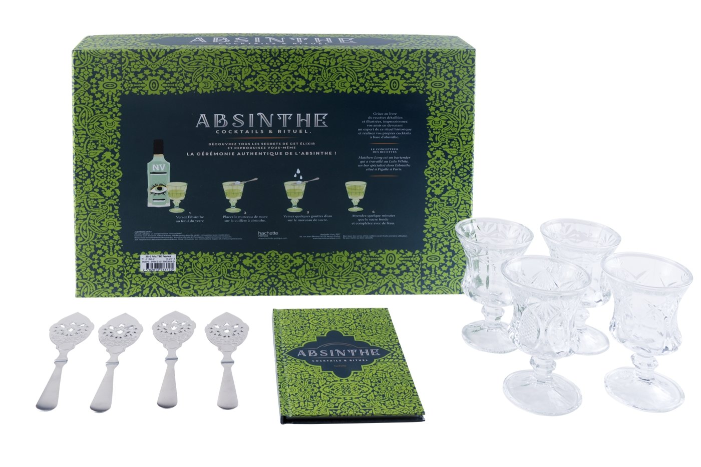 Coffret Absinthe: Cocktails & rituels Broché – 25 octobre 2017 Matthew Long Hachette Pratique 201396319X Alcools