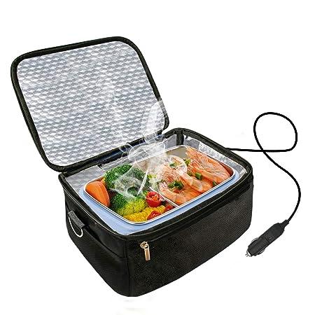 Calentador de horno y almuerzo portátil para automóvil de 12 V - Bolsa de almuerzo de calefacción personal para recalentar comidas en el trabajo sin ...