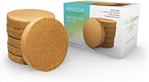 Window Nursery Expanding Organic Fiber Soil Disks 12 qt Potting Soil for Planting Indoors or Outdoors, Plant Soil for Any Seed Starting Kit, Microgreens or Succulent, Easy-to-Store Soil