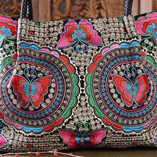 hecho de señoras de verano de A Yves25Tate compras mano a étnico las del para verano vacaciones las viaje bordado salvaje de Bolso bolso bandolera Bohemia OOqFR8w